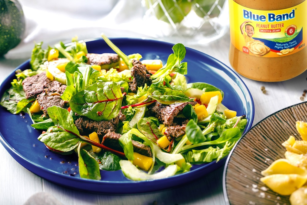 recipe image Beef & Mango Salad with Peanut Butter Dressing