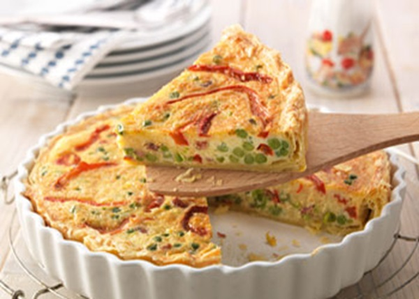 recipe image Hollandse quiche met paprika en doperwten