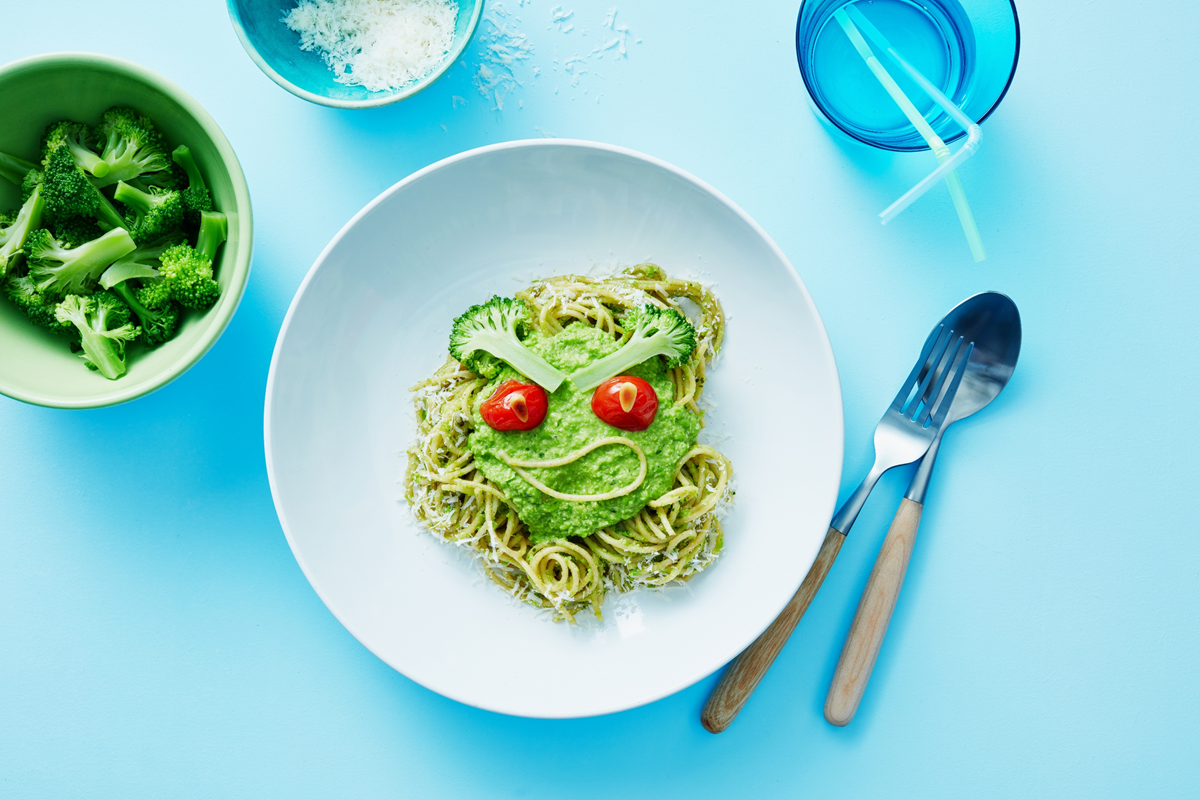 recipe image Groene 'monster' pasta